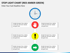 Stop light chart PPT slide 6