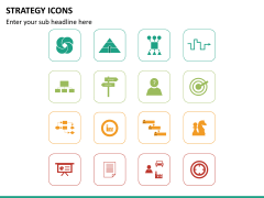Strategy icons PPT slide 6