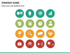 Strategy icons PPT slide 8