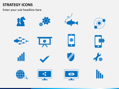 Strategy icons PPT slide 1