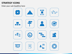 Strategy icons PPT slide 2