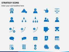 Strategy icons PPT slide 3