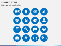 Strategy icons PPT slide 4