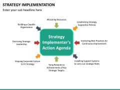 Strategy implementation PPT slide 23