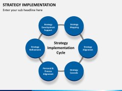 Strategy implementation PPT slide 1