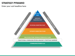 Strategy pyramid PPT slide 9