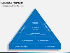Strategy pyramid PPT slide 1