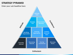 Strategy pyramid PPT slide 3