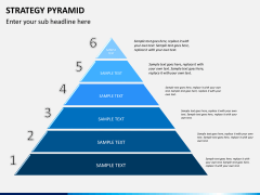 Strategy pyramid PPT slide 6