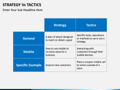 Strategy Vs Tactics PPT slide 4