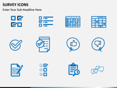 Survey icons PPT slide 3