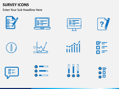 Survey icons PPT slide 4