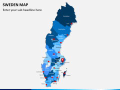 Sweden map PPT slide 1