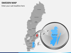 Sweden map PPT slide 12