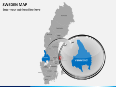 Sweden map PPT slide 15