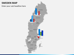 Sweden map PPT slide 16