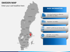 Sweden map PPT slide 17