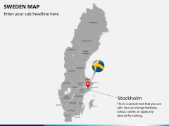 Sweden map PPT slide 19