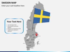 Sweden map PPT slide 20