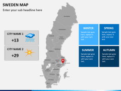 Sweden map PPT slide 21