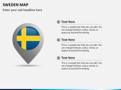 Sweden map PPT slide 22