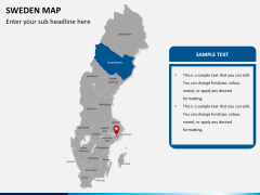 Sweden map PPT slide 7