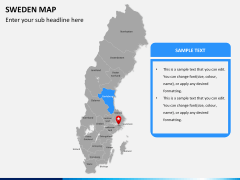 Sweden map PPT slide 8