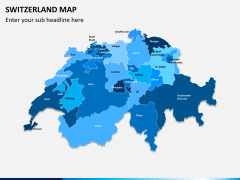 Switzerland map PPT slide 1