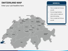 Switzerland map PPT slide 11