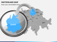 Switzerland map PPT slide 13