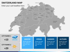 Switzerland map PPT slide 18
