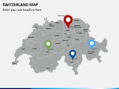 Switzerland map PPT slide 5