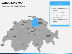 Switzerland map PPT slide 8