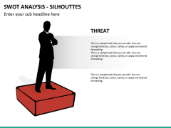 SWOT analysis with silhouettes PPT slide 12