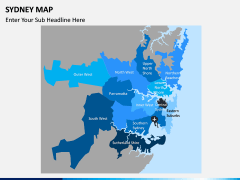 Sydney map PPT slide 1
