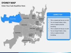 Sydney map PPT slide 11