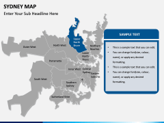 Sydney map PPT slide 12