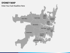 Sydney map PPT slide 3