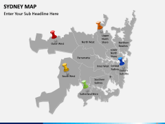 Sydney map PPT slide 4