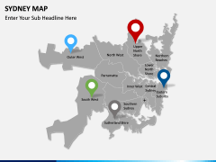 Sydney map PPT slide 5