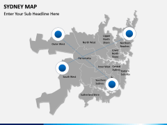 Sydney map PPT slide 6