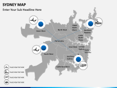 Sydney map PPT slide 7
