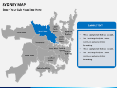 Sydney map PPT slide 9