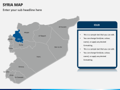 Syria map PPT slide 10