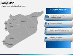 Syria map PPT slide 12