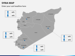Syria map PPT slide 13