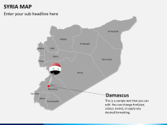 Syria map PPT slide 14