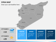 Syria map PPT slide 15