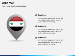 Syria map PPT slide 16