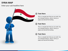 Syria map PPT slide 17